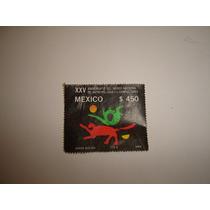 Estampilla Mexico Museo Nacional De Antropologia 1989 $450