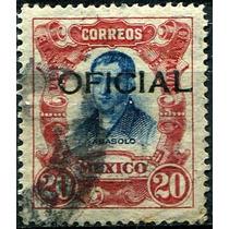 2119 Oficial Abasolo Negro Scott# O82 20c Usado L H 1911