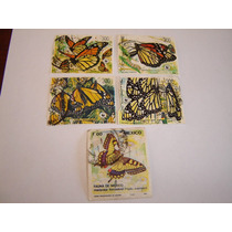 Estampillas Correo Mexico 5 Pza. Mariposa Monarca