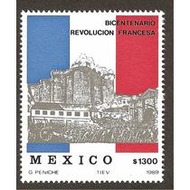 Estampilla Bicentenario Revolución Francesa 1989