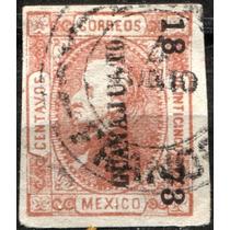 2514 Clásico Hidalgo Perfil Guanajuato#18 73 25c Usado 1873