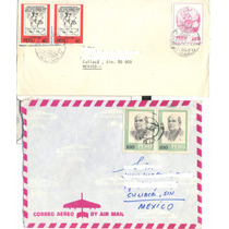 L272-perú 5 Cartas Circuladas Perú-culiacán Sinaloa Mex.-