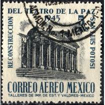 2229 México Teatro Paz Scott # C150 Aéreo $5 Usado L H 1945
