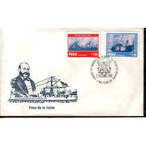 0100 Perú Carta Primer Día Marina De Guerra Del Perú 1986