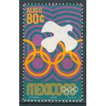 Sc C340 Año 1968 Paloma Y Aros Olimpicos