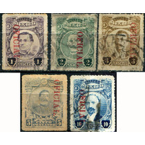 1725 Oficial Serie Scott# O155 Rojo Abajo 5 S Usado 1921-24