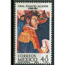 Sc 1007 Año 1969 B1 Gral Ignacio Allende Por Diego Rivera