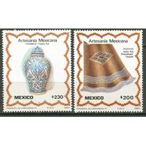 Sc 1481-1482 Año 1987 Artesanias Mexicanas Tlaxcala Y Puebla
