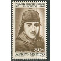 Sc C325 Año 1967 B1 Primer Correo Aereo Mexico Pachuca