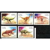 0383 Dinosaurio Cuba Serie 5 Sellos Mint N H 1999