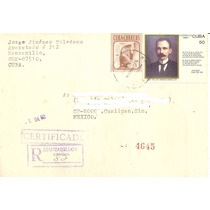 Te11-cuba 3 Sobres Circulados Temática Jose Martí-