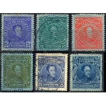 0511 Venezuela Serie 6 Sellos Usados N H 1932-38