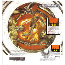 Cumbre Iberoamericana Cartel Firmado Tamayo 1991 Hoja P Dia