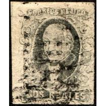 1843 Clásico Ne Gris Scott #8c Sin S Carga 2 R Usado 1861