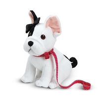 American Girl Bulldog Francés De Grace P/muñec Original Y Ne