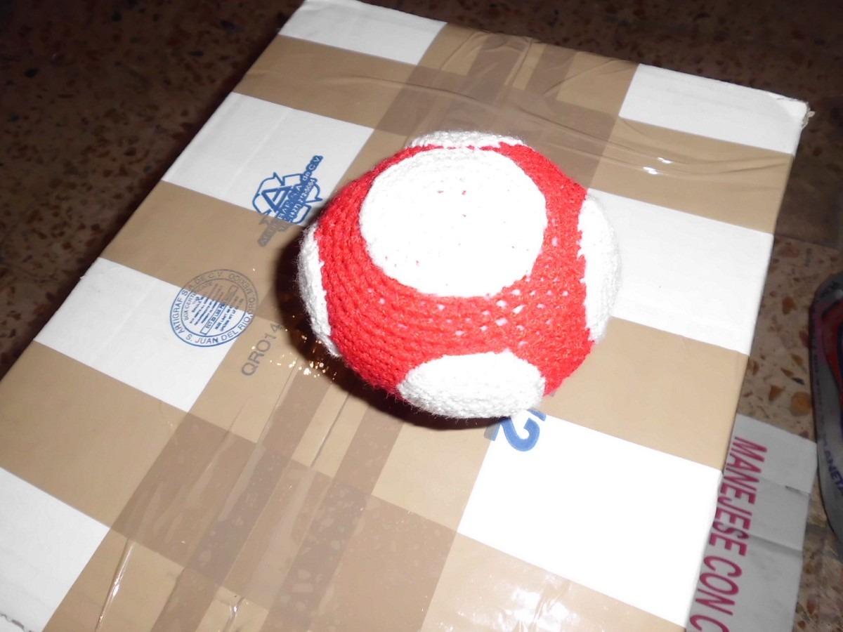 Amigurumi Hongo Mario Bros : amigurumi hongo mario bros.