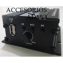 Amplificador Mini Entrada Usb Reproductor Auto Moto Casa
