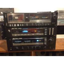 Set Fisher Vintage Amplificador, Tuner Y Casetera