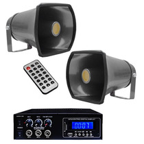 Kit Para Perifoneo Con Amplificador 2 Trompetas 800 W Xaris