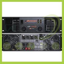 Amplificador De Poder Bunker Mx-4000 Electronica Winners