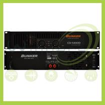 Amplificador De Poder Bunker Cd-14000 Electronica Winners