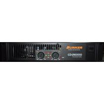 Amplificador De Poder Bunker Mod. Cd 26000 !! Nuevo ! $ 6200