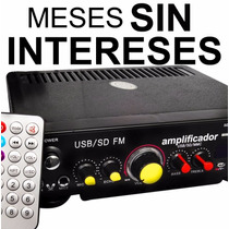 Vecctronica: Amplificador De Perifoneo Usb / Sd Y Radio New!
