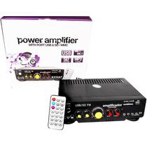 Amplificador 800w Para Perifoneo Usb/sd Efecto Eco Radio Fm