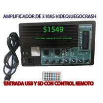 Amplificador Modulo Consola Para Audio Sonidos Usb Sd Mp3etc