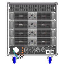 Amplificadores Proel Rack Lineal Axracks3