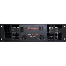 Amplificador De Poder Bunker Mx-4000 (2000 Watts Rms X 2)