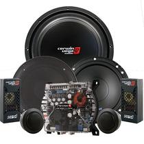 Paquete De Amplificador Stetsom Vs400.4 + Subwoofer Cerwin
