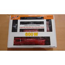 Kit De Cables Instalacion Profesional Calibre 4 Con Fusible