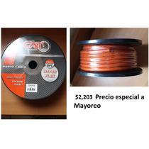 Rollo Calibre 4, 20m Cpw420or Cat, Cable Cobre Profesional