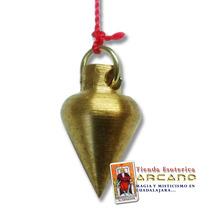Pendulo Mini De Bronce - Incluye Tarjeta De Radiestesia