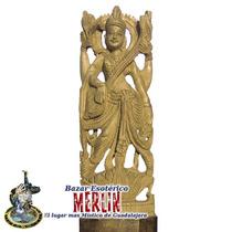 Saraswati - En Fina Madera De Sándalo