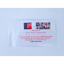 6 Pulseras Hilo Rojo Kabbalah C/instr, Libro, Oracion, Envio