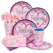 Standard Kit Fiesta De Cumpleaños De La Princesa Sirve 8
