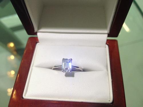 Gua Asscher Cut anillos de compromiso; La forma de