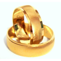 Argollas De Matrimonio Rayadas Chapa Oro 14k Envio Gratis