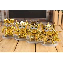 Saint Seiya Minions 4 Figuras Geminis Leo Virgo Sagitario