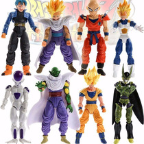Figura Dragon Ball Goku Trunks Freezer Cell Gohan Set 8 Pzas