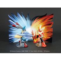 Pokemon Model Collection Mega Lucario Vs Mega Blaziken Set