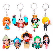 One Piece Figuras 9 Llavero Nami Zoro Sanji Luffy Chopper