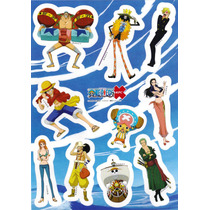 Genial Planilla De Stickers De One Piece & Kfc Y001 1