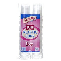 3 Oz. Desechables Copas De Plástico - 100 Count (paquete De