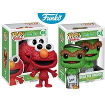 Elmo Y Oscar The Grouch Funko Pop Programa Plaza Sesamo
