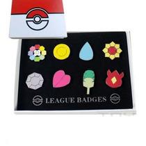 Pokemon - Medallas De Lideres De Gimnasio De Kanto Pin Badge