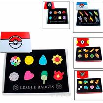 Pokemon Medallas Set De 8 Insignias Kanto Johto Gimnasio 419