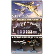 Paquete Vf-1s/j/a Valkyrie Macross + Bases + Armamento